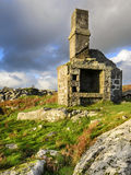Ruin on Bodmin Moor. A ruined building at Carbilly Quarry on Bodmin Moor in Cornwall Royalty Free Stock Images