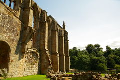Ruin of Bolton Abbey in Yorkshire,UK. Royalty Free Stock Photography