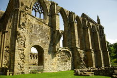 Ruin of Bolton Abbey, Yorkshire, UK. Stock Photos