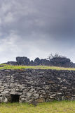 A ruin of a brick house. At Easter Island, Chile Stock Photography