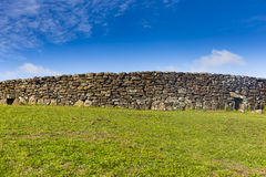 A ruin of a brick house. At Easter Island, Chile Stock Photos