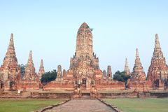 Free Ruin Brick Temple In Ayutthaya, Thailand Stock Photography - 36057442