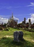 Ruin brick of Wat Phra Sri Sanphet Stock Image