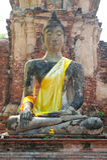 Ruin of Buddha in Ayuttaya (Thailand) Royalty Free Stock Photo