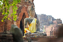 Ruin of Buddha in Ayuttaya (Thailand) Royalty Free Stock Image