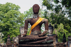 Ruin of Buddha image in Kamphaeng Phet Historical Park, Thailand. Ruins of Buddha image at Wat Phra Kaeo in Kamphaeng Phet Historical Park, Thailand (UNESCO Stock Photography