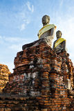 Ruin Buddha statue Royalty Free Stock Photo