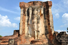 Ruin buddha statue Royalty Free Stock Photography
