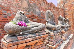 Ruin of Buddha statues stock image