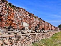 Ruin buddhas Stock Image