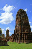 Ruin of buddhist temple Royalty Free Stock Image