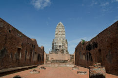 Ruin of buddhist temple Royalty Free Stock Photos