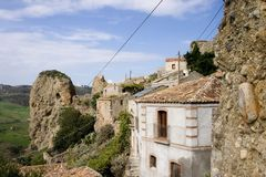 Ruin Calabria. Historical ruin ancient village of Calabria, Italy Royalty Free Stock Image