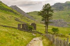 Capel Rhosydd, Wales, UK. The ruin of Capel Rhosydd near Blaenau Ffestiniog, Gwynedd, Wales, UK Stock Images