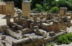 Ruin of carthage. Ruin of the antic city of Carthage, in Tunisia stock photography