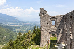 Ruin Castel Belfort in Italy Stock Photography