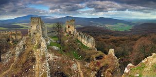 Ruin of castel Gymes Stock Photography