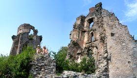 Ruin of the castle Royalty Free Stock Images