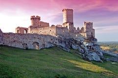 Ruin castle royalty free stock photo