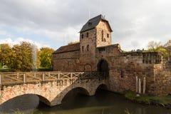 Ruin of castle Bad Vilbel. Hesse, Germany Royalty Free Stock Image