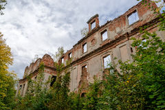 Ruin of a castle. In eastern Poland Royalty Free Stock Photo