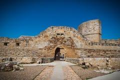 Ruin of the castle. Castle, ruin fortress in Zamora Spain Royalty Free Stock Image