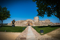 Ruin of the castle. Castle, ruin fortress in Zamora Spain Royalty Free Stock Photos