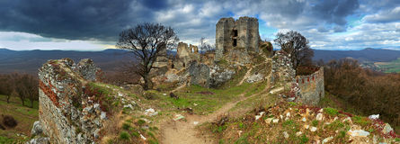 Ruin of castle Gymes. Slovakia Royalty Free Stock Photography