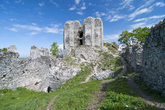 Ruin of castle Gymes - courtyard royalty free stock photo