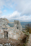 Ruin of castle Gymes, wall and door Royalty Free Stock Images
