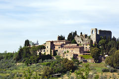 Ruin of castle Montelifrè in the Tuscany Stock Photo