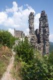 Ruin of castle Reviste, Slovakia royalty free stock photography