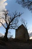 Ruin castle straufhain Royalty Free Stock Photography