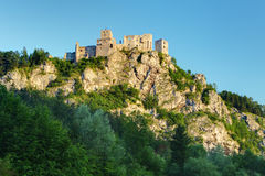Ruin of castle Strecno - Slovakia Stock Photos