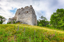 Ruin of castle Tematis, Slovakia nature landscape Royalty Free Stock Photography