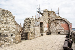 Ruin castle of Visegrad, Hungary, ancient architecture Stock Photography