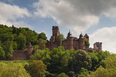 Ruin of castle Wertheim above the Main river Stock Images