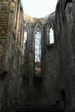 Ruin of cathedral on Oybin castle and monastery Royalty Free Stock Photography