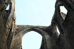 Ruin of cathedral on Oybin castle and monastery Royalty Free Stock Photo
