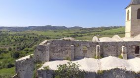 Ruin of a cathedral in Sardinia