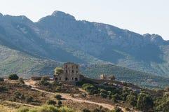 Ruin of chateau du Prince Pierre Corsica Stock Photo