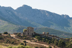 Ruin of chateau du Prince Pierre Corsica Stock Photo