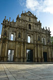 Ruin church in macau Stock Images