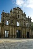 Ruin church in macau Stock Images