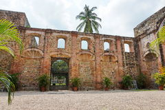 Ruin of church of the Society of Jesus Panama City. Ruin of the church of the Society of Jesus in the Casco Antiguo,  the historic district of Panama City Royalty Free Stock Image