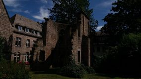 A ruin in the city of Marburg. In Germany Royalty Free Stock Photos