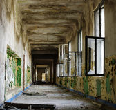 Ruin corridor old interior architecture Royalty Free Stock Photo