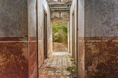 Ruin corridor Stock Photo