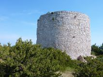 Ruin of a Croatian castle Royalty Free Stock Photography