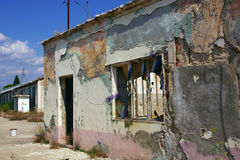 Ruin in Croatian suburb Stock Photos